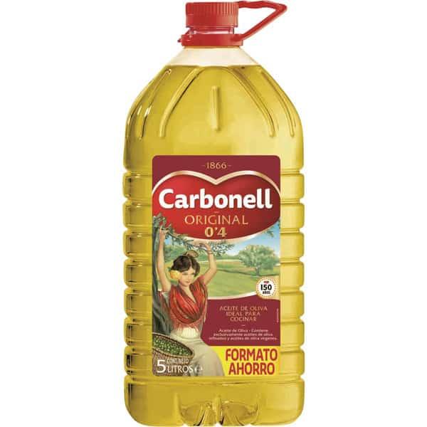 Aceite de oliva Carbonell suave 0,4 bidón 5L