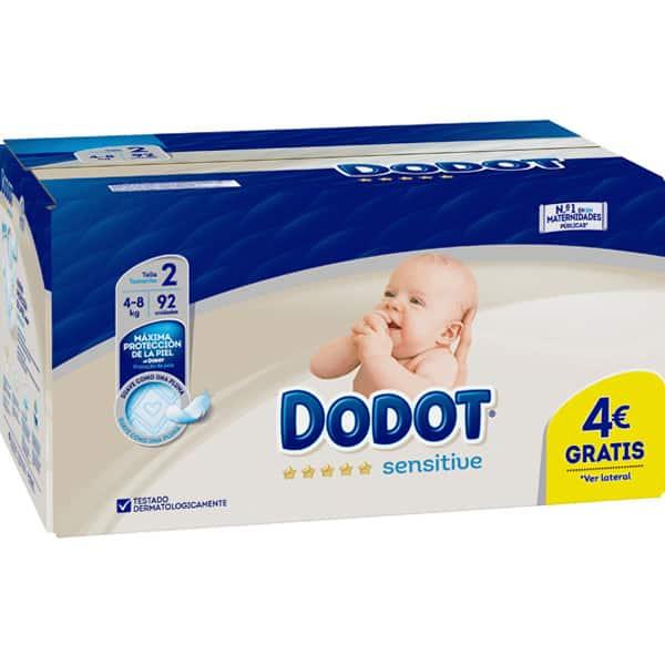 DODOT Sensitive pañales de 4 a 8 kg paquete 92 unidades