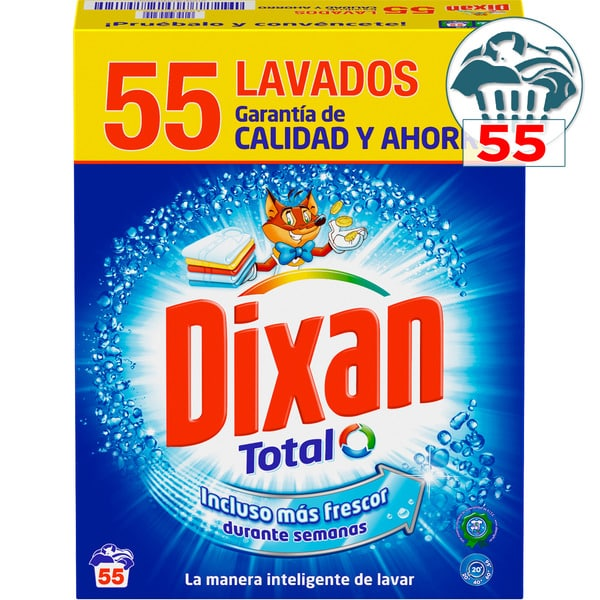 Detergente DIXAN Total – 55 lavados
