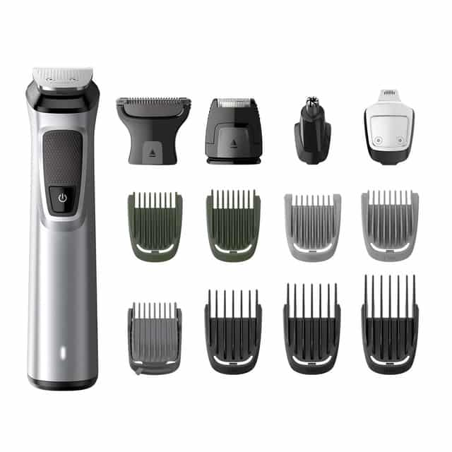 Multigroom Philips MG7720/18 con 14 herramientas para cara, cabello y cuerpo