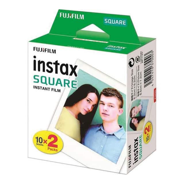 Pack Papel fotográfico Fujifilm Instax Square Film 2×10 hojas
