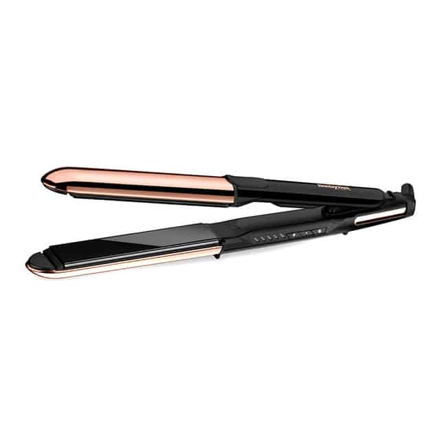 Plancha de pelo BaByliss Straight and curl Salon Brilliance ST482E con titanio
