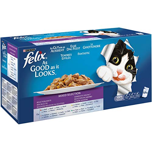 Purina Felix Fantastic comida para gatos – Pack 44x100gr