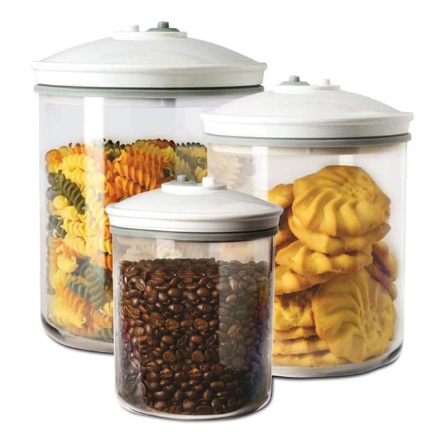 Set de 3 tarros de vacío FoodSaver FSC003-I para envasadora FoodSaver
