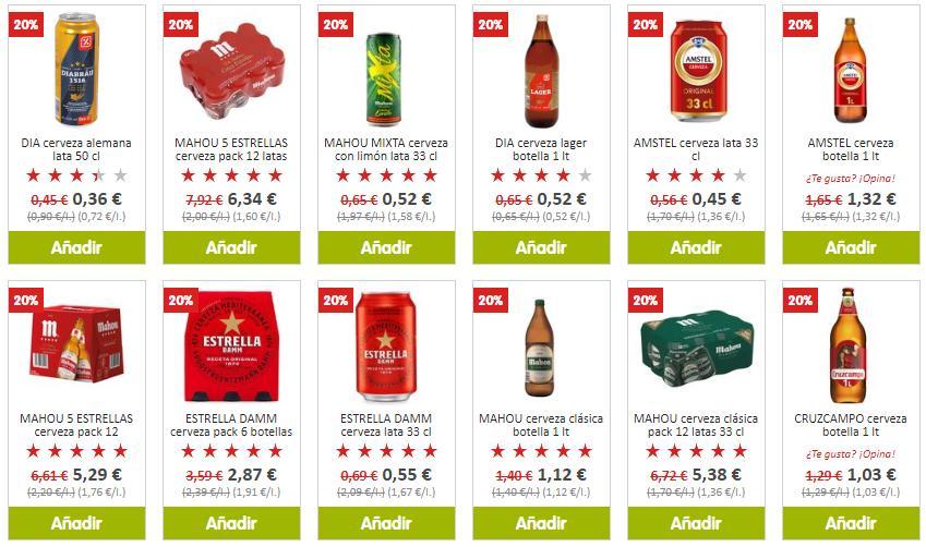20% de descuento en cervezas - Supermercado Dia