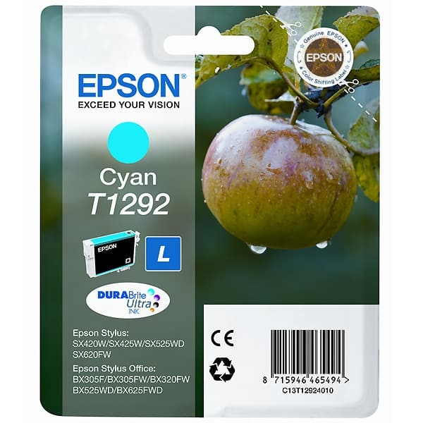 Cartucho original Epson T1292 Cian (C13T12924010)