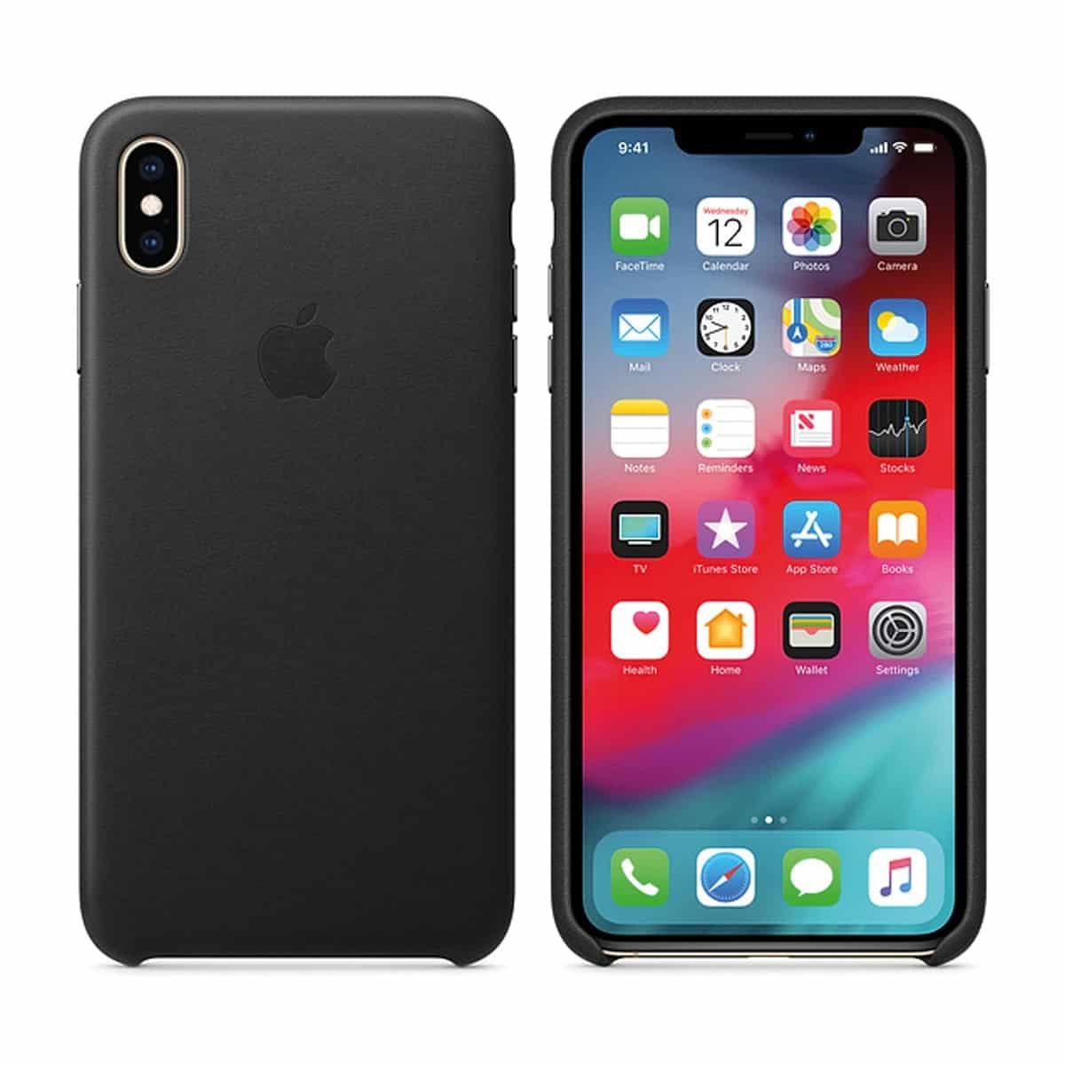 Funda Apple Leather Case Negra para iPhone XS Max