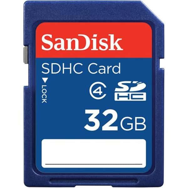Tarjeta de Menoria Sandisk SDHC de 32 GB
